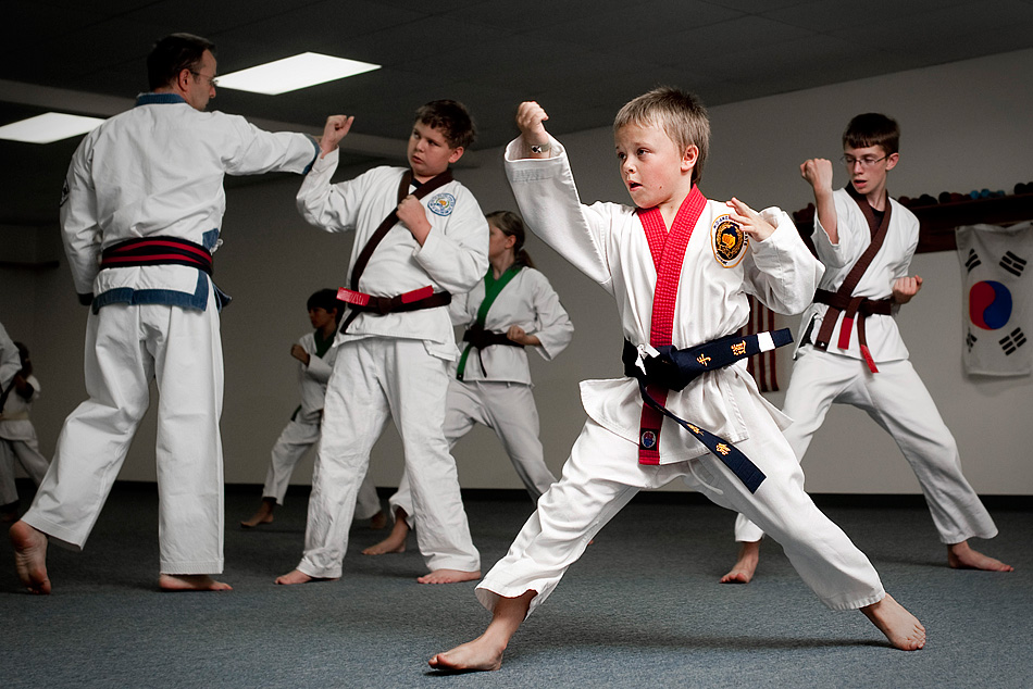 Cooper McDonald, 10, practices forms at Oklahoma Karate in Sapulpa on June 23, 2011. McDonald has been taking karate lessons for six years, and is currently a first degree black belt. JEFF LAUTENBERGER/Tulsa World